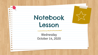 Notebook lesson 10/14
