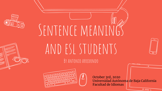 Sentence meanings and ESL