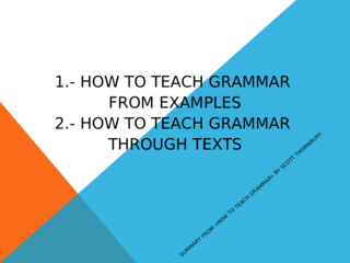 Grammar- Examples and Texts