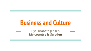 Business and Culture