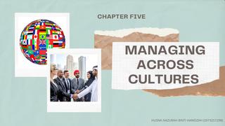 Managing Across Cultures (Pt1)