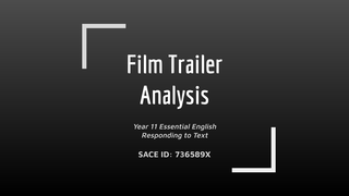Film Trailer Analysis- Present