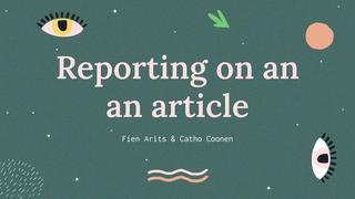 Engels presentatie: article
