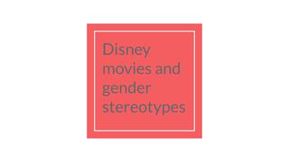 Gender stereotypes in movies