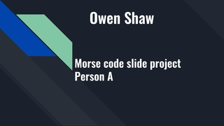 OWEN SHAW - Ch. 19 Invention M