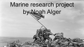 Marine research project by:Noa