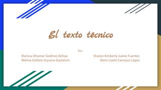 El texto técnico