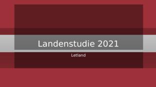 Landenstudie Letland