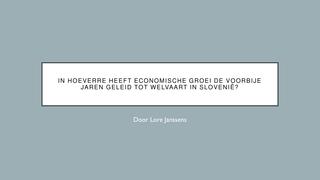 Economie - Slovenië