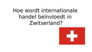 LandenstudieZwitserland