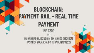 BLOCKCHAIN: PAYMENT RAIL - REA