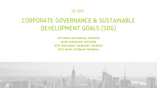 Corporate Governance and SDG