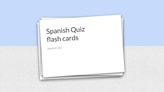 Copy of Flash cards practise f