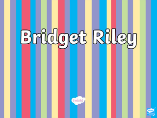 Bridget Riley and intro to Op