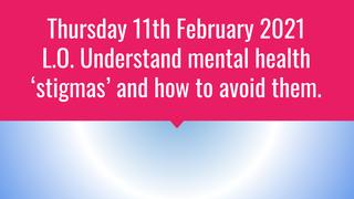 Stigmas around mental health