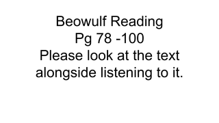 Beowulf pg57 -66