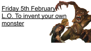 Invent your own monster