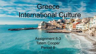 Greece International Culture