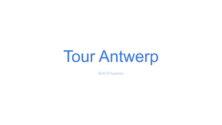 Tour Antwerp