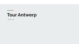 Tour Antwerp Elias Verelst