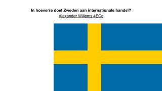 Internationale handel Zweden