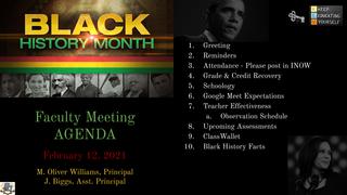 February 2021 - Agenda