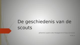 Ges spreekbeurt scouts