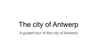 SP tibe fannes City of Antwerp