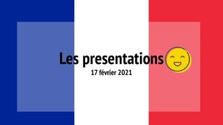 Sesión 3: Les presentations