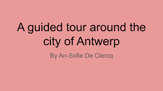 A guided tour of Antwerp
