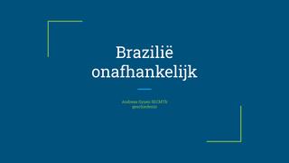 Brazilië_Onafhankelijk