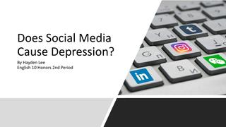 Social media and depression pr