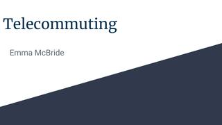 telecommuting (digital buisnes