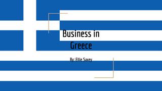 Business in Greece