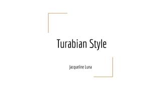 Turabian Style