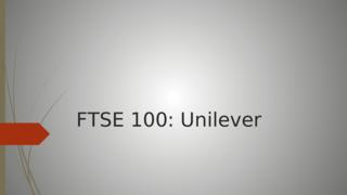 FTSE 100: Unilever
