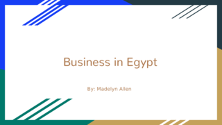 Business in Egypt