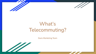 What's Telecommuting?