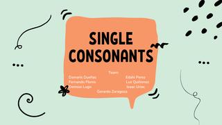 single consonants