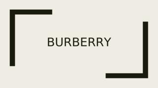 Financial Performance Burberry