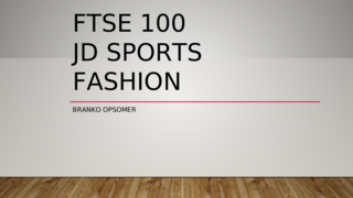 JD Sports Fashion FTSE 100