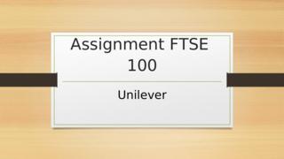 FTSE 100 Unilever