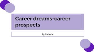 Career dreams-career prospects