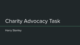 Charity Advocacy Task