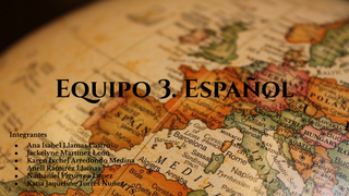 Equipo 3 Español