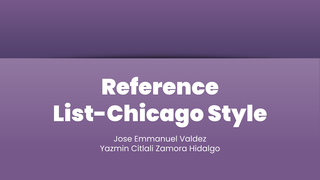 Reference List-Chicago Style