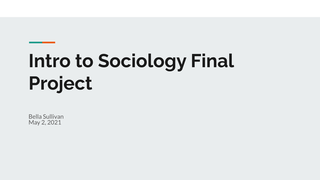 Intro to Sociology Final Proje
