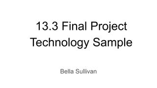 13.3 Virtual Sample