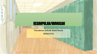 CTU554 KESIMPULAN/RUMUSAN