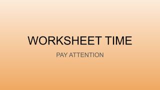 WORKSHEET TIME 2nd